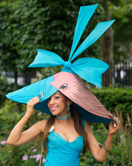 OK Magazine Tracy Rose at Royal Ascot with Picasso Hat