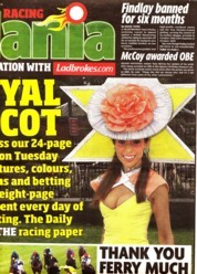 Tracy Rose Daily Mirror Front Page 2010