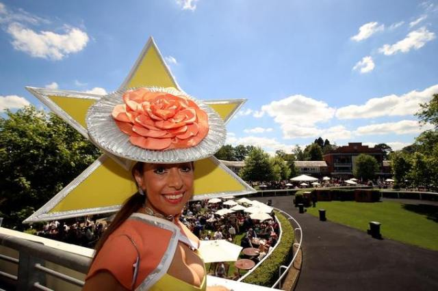 ITV online Tracy Rose wearing a striking hat at Royal Ascot Day 4